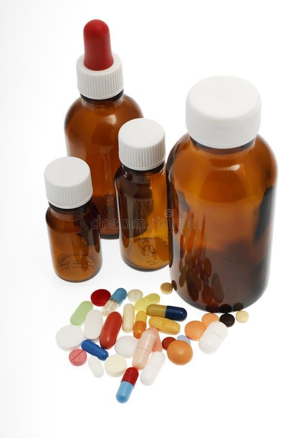 Verschiedene Tabletten, Medizin lizenzfreie stockfotografie