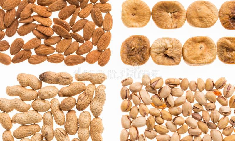 Verschiedene trockene Früchte und Nüsse lizenzfreies stockbild