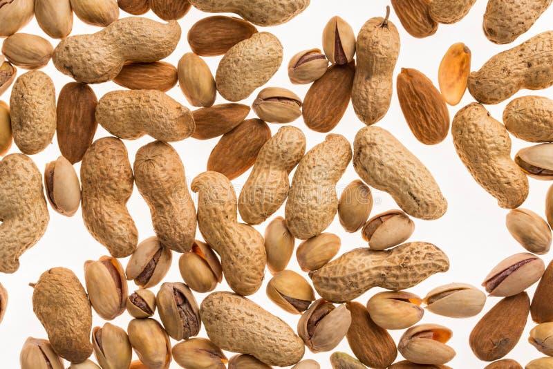 Verschiedene trockene Früchte und Nüsse lizenzfreies stockfoto