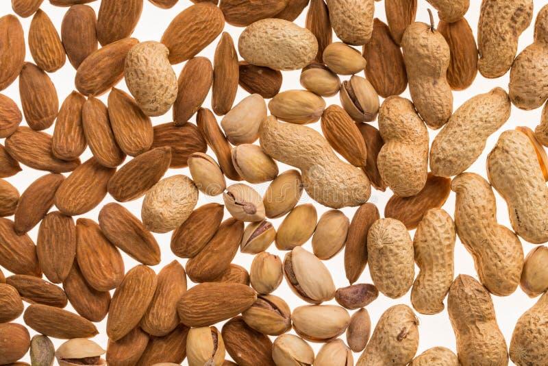 Verschiedene trockene Früchte und Nüsse stockfoto