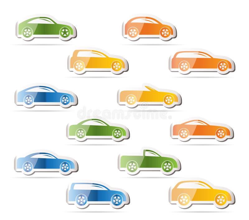 Verschiedene Typen der Autoikonen stock abbildung