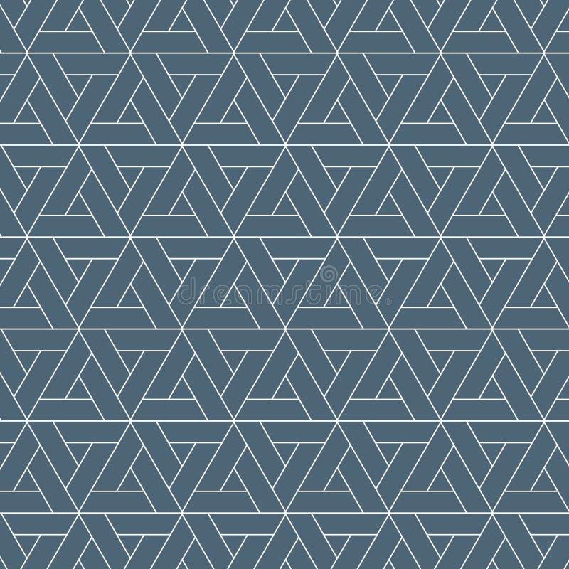 Verschiedene Varianten der Farbe sind möglich abstrakter Hintergrund Wiederholen des geometrischen dreieckigen Gitters auf Hexago stock abbildung