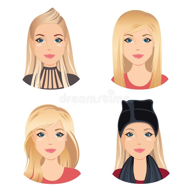 Verschiedene Frisuren Fur Manner Vektor Abbildung Illustration Von