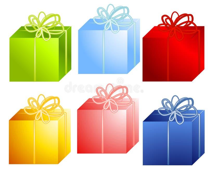Verschiedene Weihnachtsgeschenke lizenzfreie abbildung