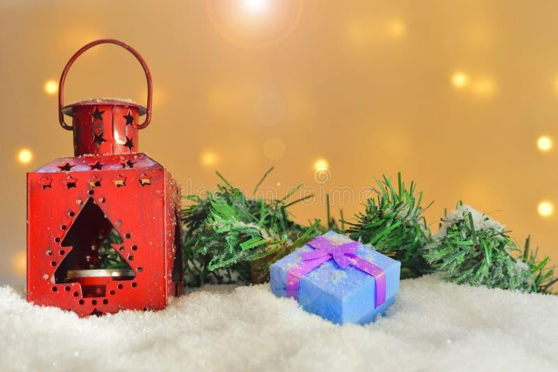 Verschiedene Weihnachtsverzierungen lizenzfreie stockbilder