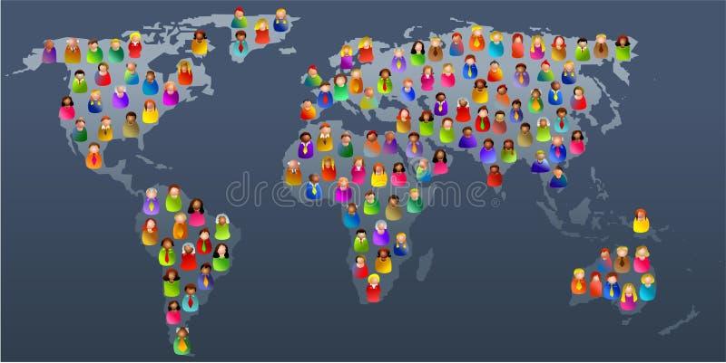 Verschiedene Welt lizenzfreie abbildung