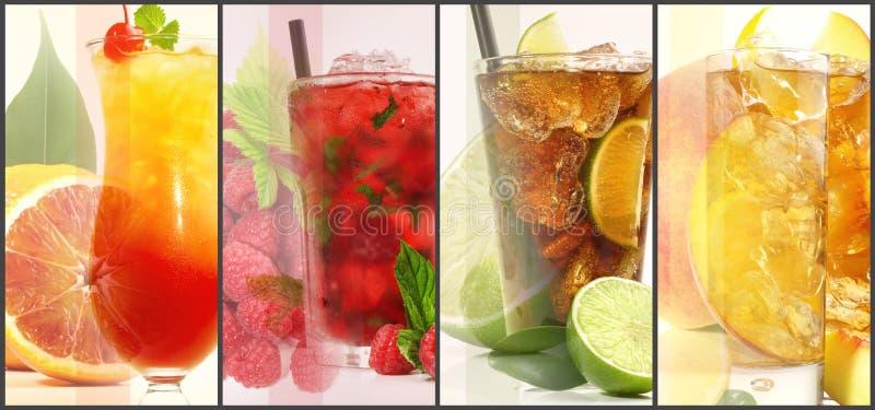 Verschiedenes Cocktail-Panorama stockbild