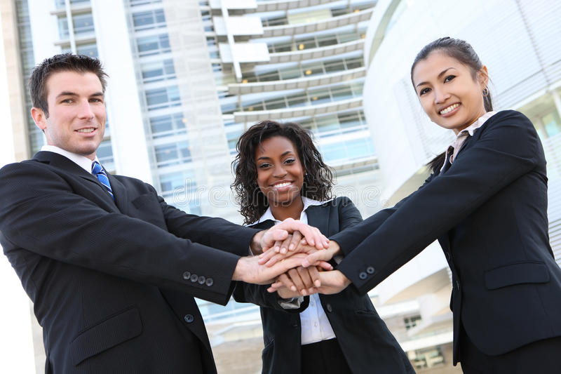 Verschiedenes Geschäfts-Team stockbild