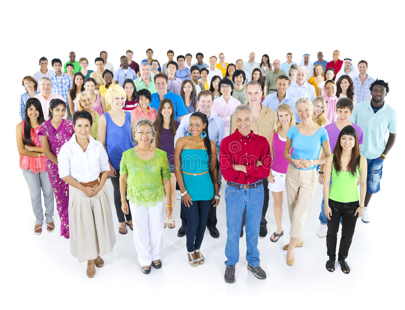 Verschiedenes Gruppe von Personenen-Lächeln lizenzfreies stockfoto