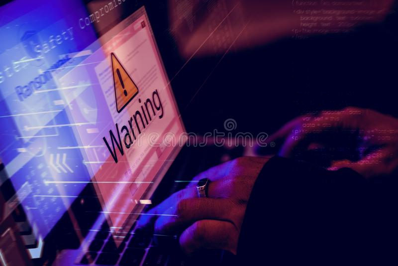Verschiedenes Hackerverbrechentrieb stockfoto