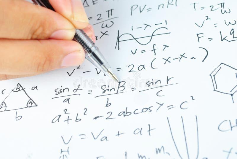 Verschiedenes Mathe Und Wissenschaft Highschool Der Handschrift ...