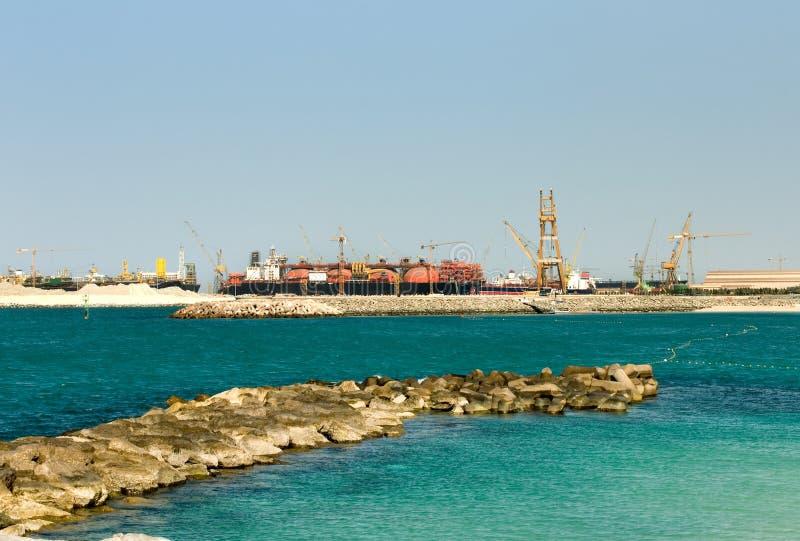Verschiffen-Terminal, Dubai, vereinigt stockfoto