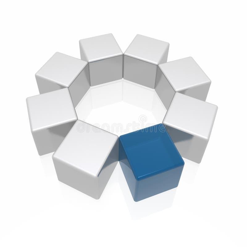 Verschillend element stock illustratie