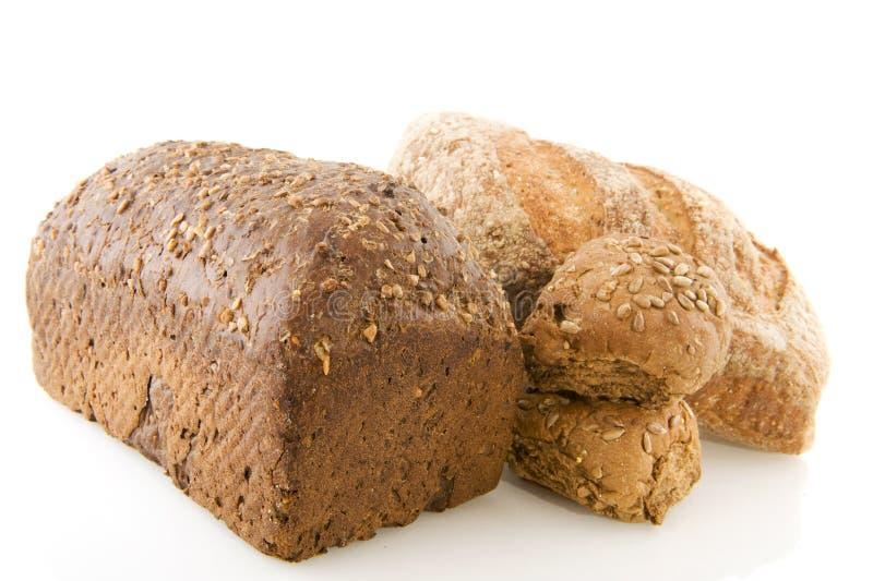 Verschillend gezond bruin brood royalty-vrije stock foto