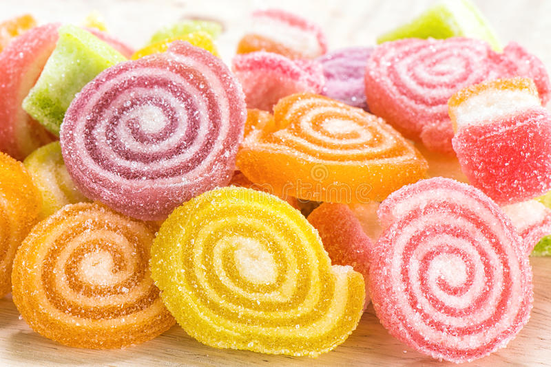 Verschillend Kleurrijk suikergoed royalty-vrije stock afbeeldingen