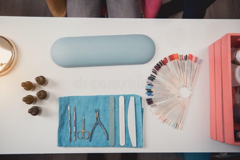 Verschillend materiaal om manicure tot stand te brengen royalty-vrije stock fotografie