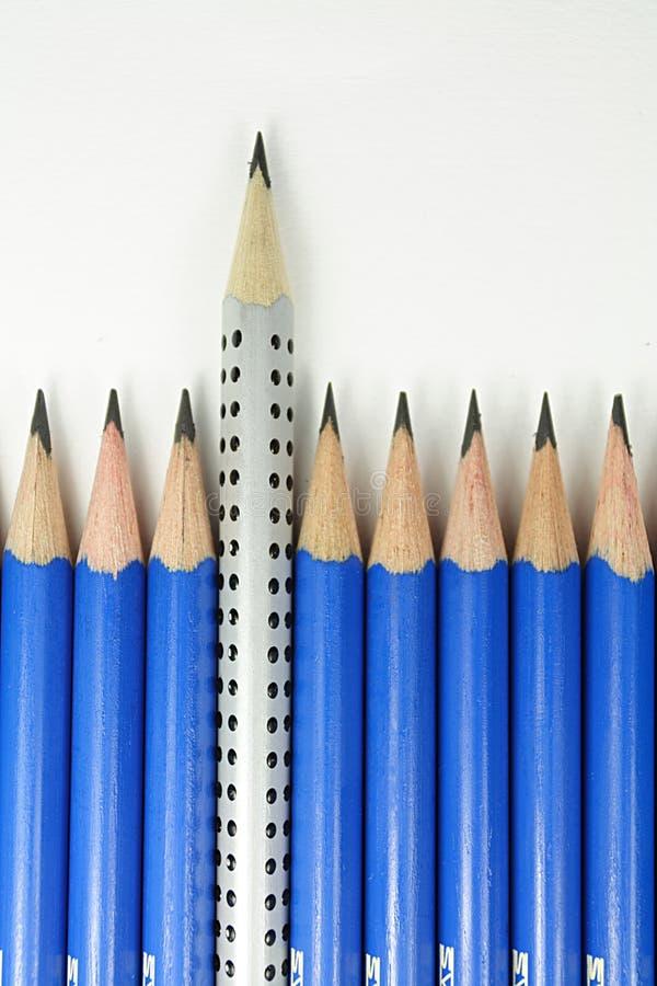 Verschillend potlood royalty-vrije stock afbeeldingen
