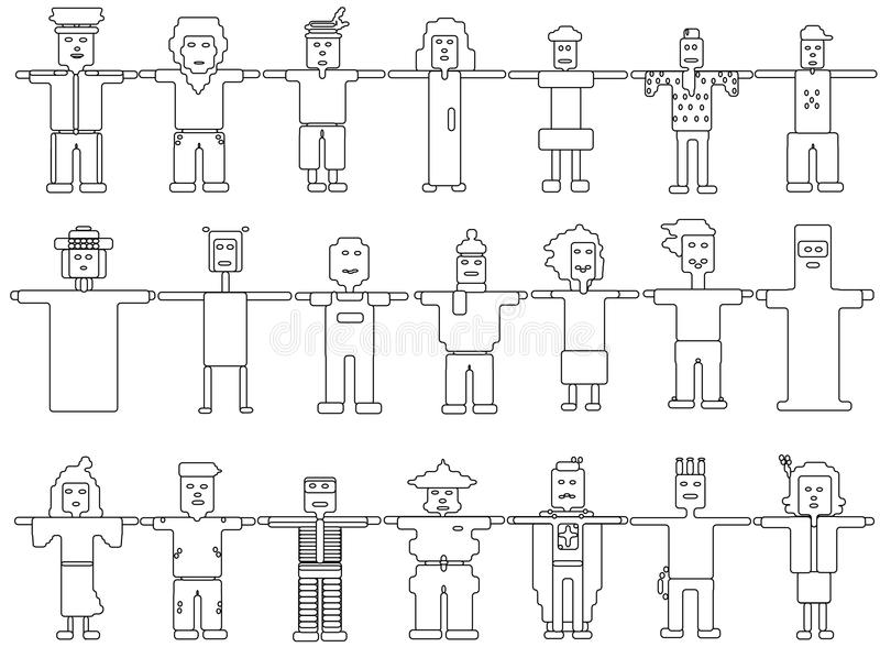 Verschillend soort baanmensen vector illustratie