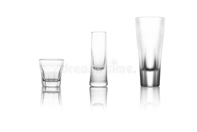 Verschillende alcoholische drankglazen royalty-vrije stock foto