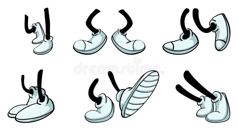 Verschillende benen met schoen royalty-vrije illustratie