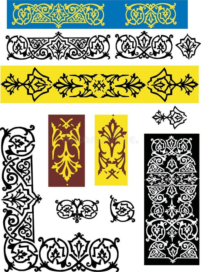 Verschillende bloemendecoratie royalty-vrije illustratie