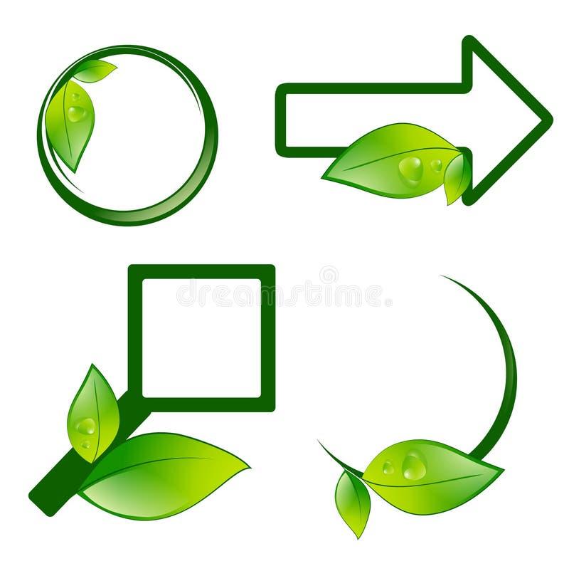 Verschillende Eco-Etikettekens vector illustratie