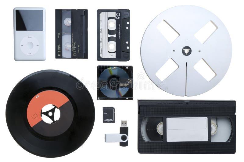 Verschillende elektronische apparaten stock foto's