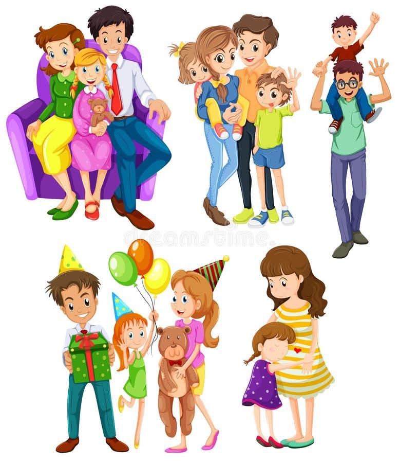 Verschillende families royalty-vrije illustratie