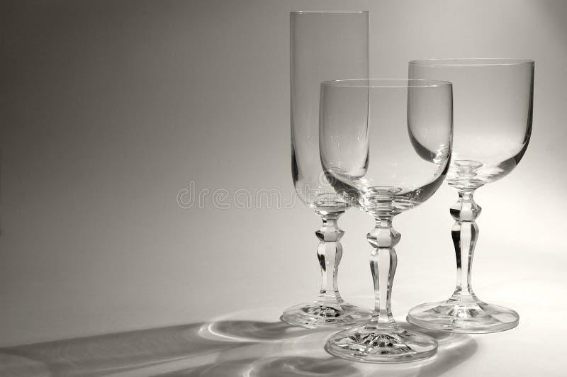Verschillende Glazen royalty-vrije stock afbeelding