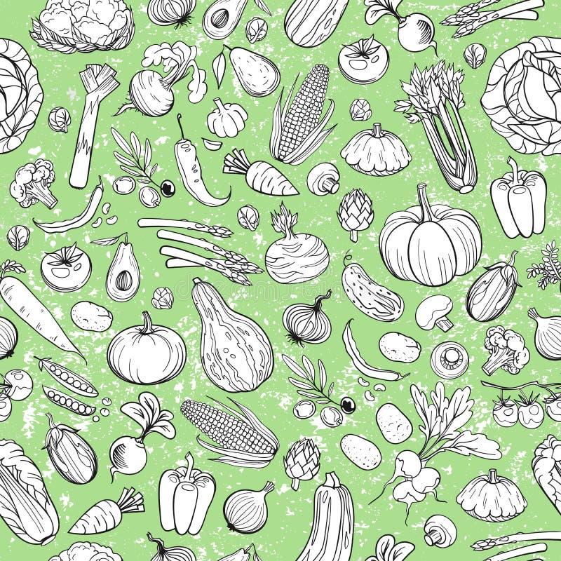 Verschillende groententekeningen vector illustratie