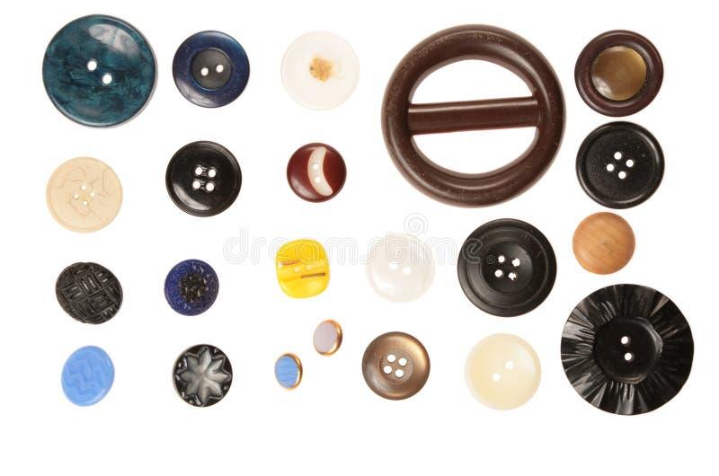 Verschillende grootteknopen stock afbeeldingen