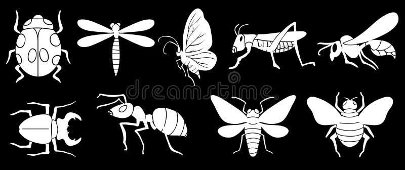Verschillende insecten vector illustratie