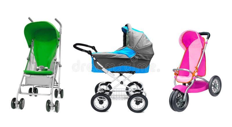 Verschillende kinderwagens royalty-vrije stock foto's