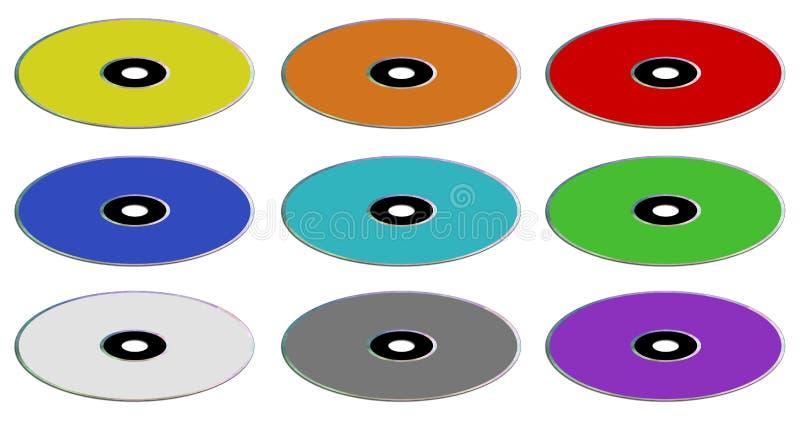 verschillende kleuren en types royalty-vrije illustratie