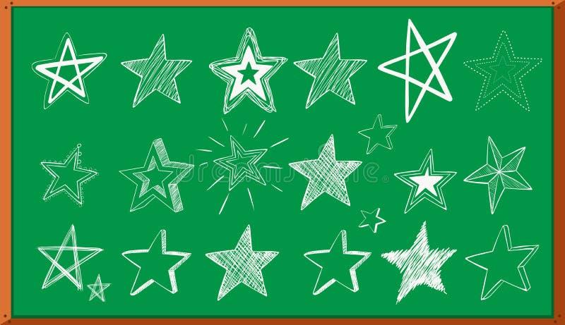 Verschillende krabbelontwerpen van sterren aan boord vector illustratie