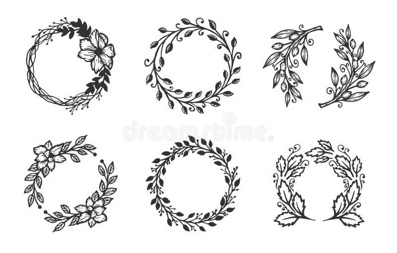 Verschillende kroonreeks stock illustratie