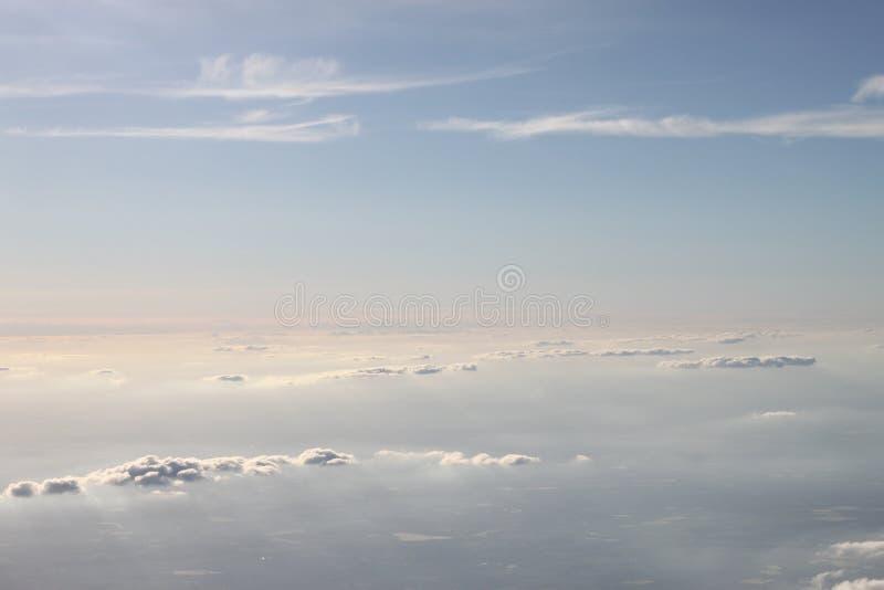 Verschillende lagen wolken royalty-vrije stock foto's