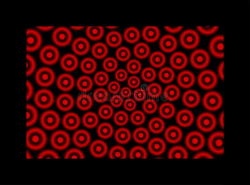 Verschillende lichtgevende rood en zwarte hoepels royalty-vrije illustratie