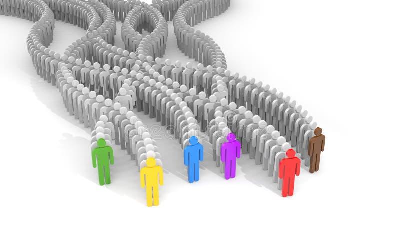 Verschillende mensen - leiders vector illustratie