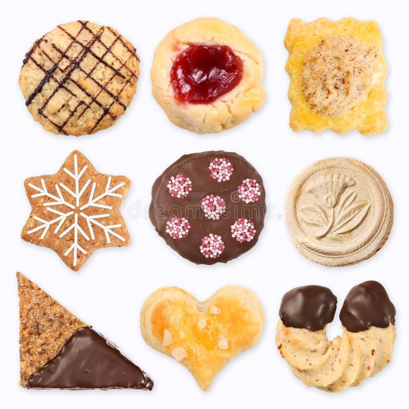 Verschillende met de hand gemaakte koekjes 3 royalty-vrije stock fotografie