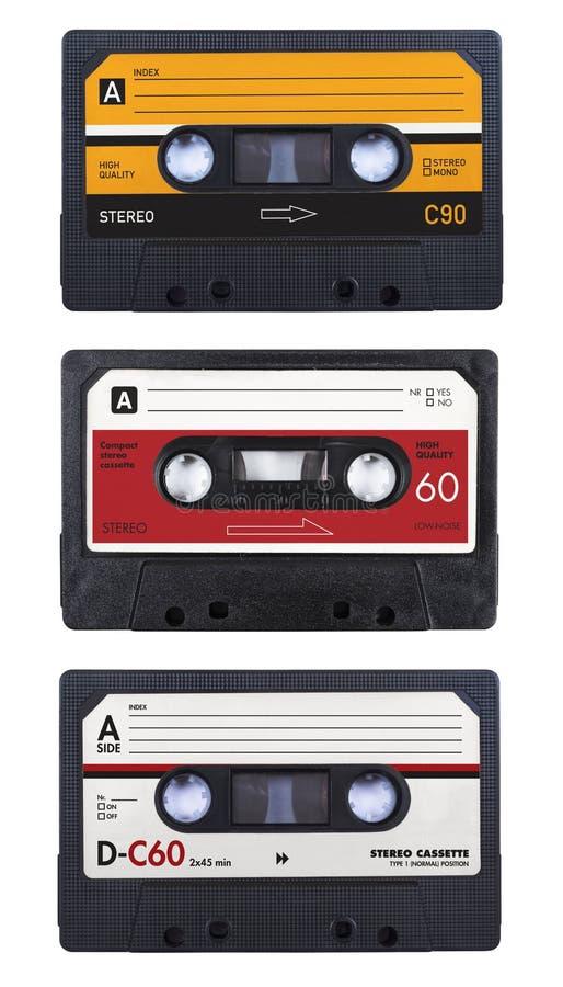 De banden van de cassette royalty-vrije stock afbeeldingen