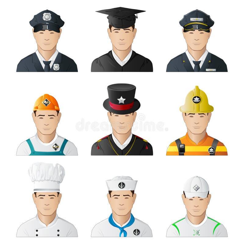 Verschillende Professionele Mens royalty-vrije illustratie