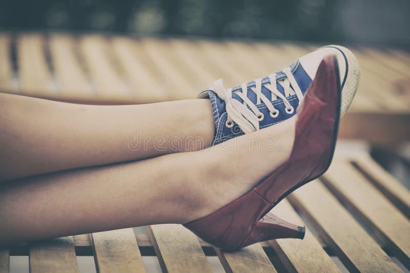 verschillende schoenen royalty-vrije stock fotografie