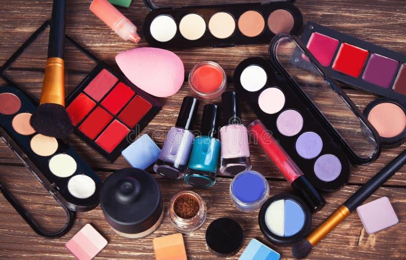 Verschillende schoonheidsmiddelen stock foto's