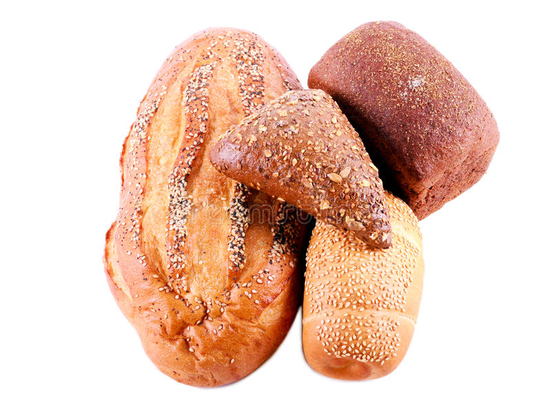 Verschillende soorten brood royalty-vrije stock foto's