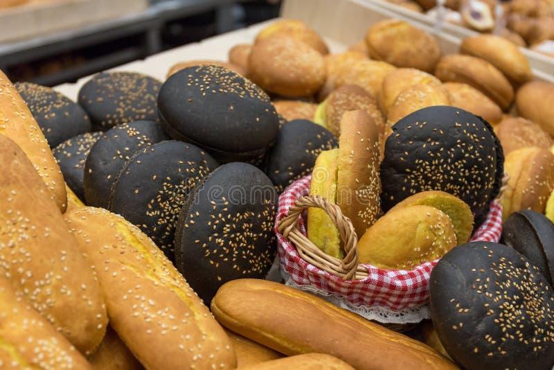 Verschillende soorten broodjes royalty-vrije stock foto
