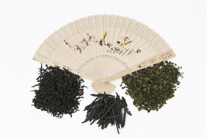 Verschillende soorten Chinese Thee stock afbeeldingen