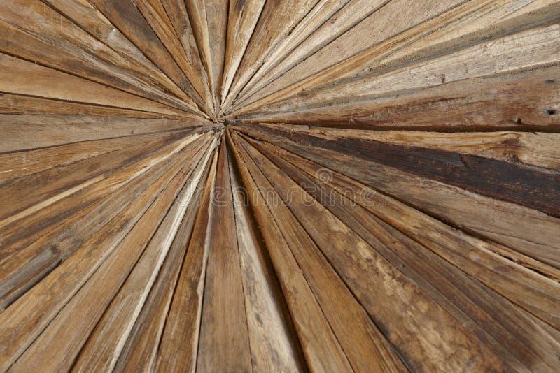 Verschillende soorten houtspaanders in een geometrische vorm royalty-vrije stock foto