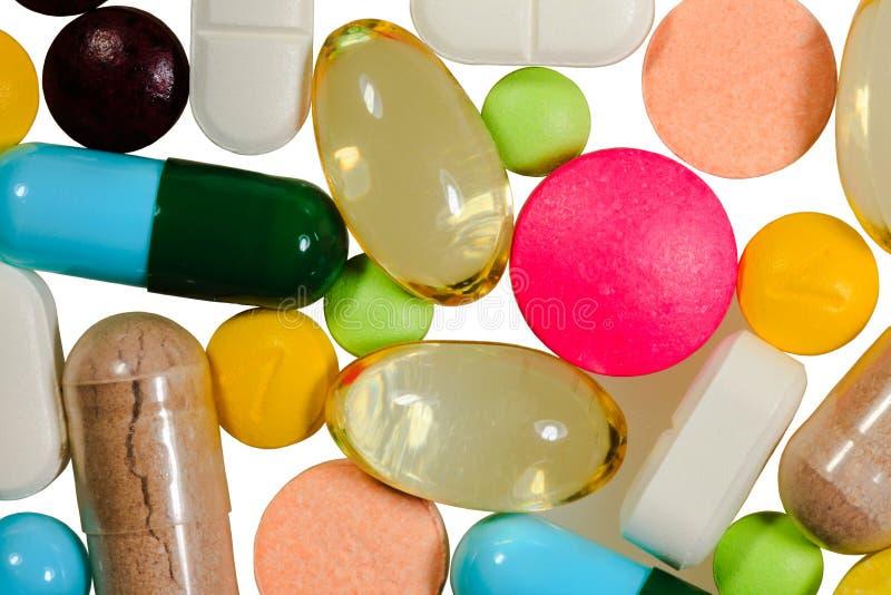 Verschillende soorten pillen royalty-vrije stock foto's