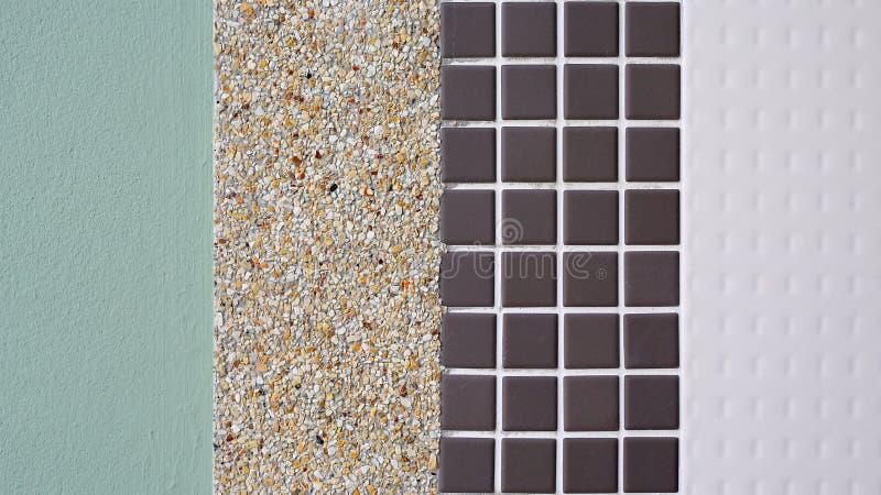 Verschillende textuur van tegel royalty-vrije stock afbeeldingen